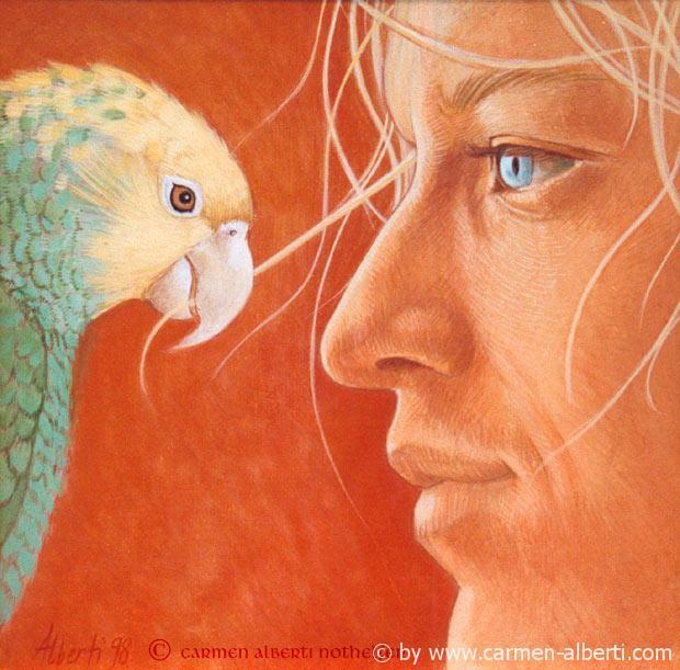 Menschen mit Vogel 1 / birdpeople 1